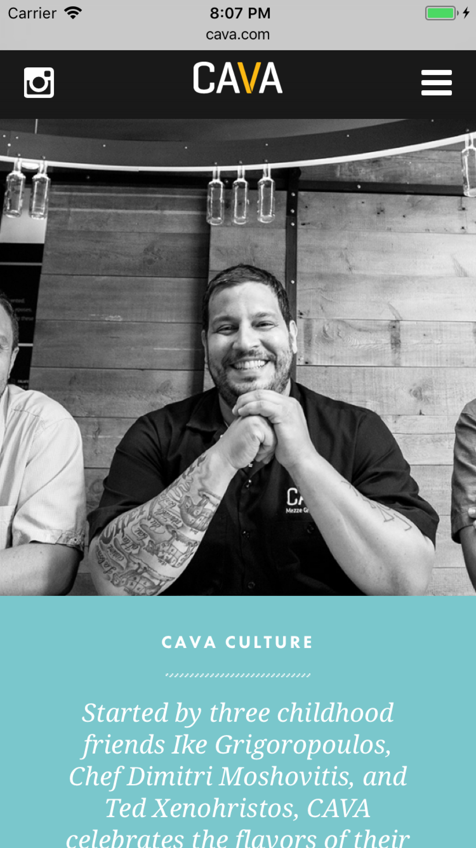 Cava culture on mobile